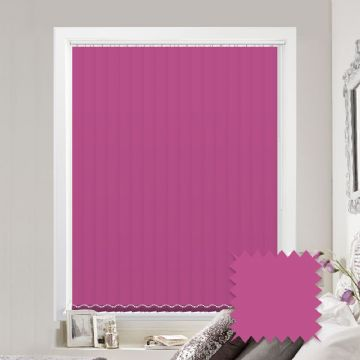 Pink vertical blinds - Made to Measure vertical blind in Splash Orchid